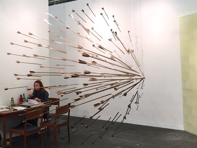 """Lea Weingarten Armory Arts Week Fair Story March 2015 Image 4 Glenn Kaino """"A Shout Within A Storm"""", 2015 Honor Fraser Gallery"""