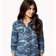 forever 21 Chambray Camo Shirt
