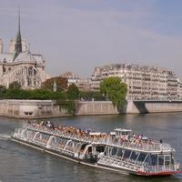 Paris boat ride down the Seine on a Bateau Mouche tourist boat