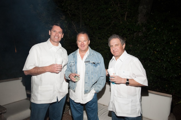 19A- Peter Shaper, from left, Todd Marix and Doug Schnitzer at the Clayton Dabney fundraiser March 2014