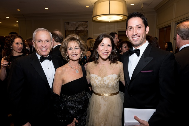 45 Buster and Karen Freedman, from left, and Esther Steinfeld Freedman and Doug Freedman at the Jewish Community Center Children's Scholarship Ball March 2015