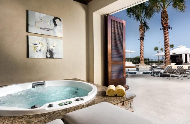 The Villas at San Luis hot tub