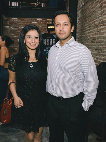 Sahrish Agha and David George at the Houston Symphony Young Professionals Backstage kick-off party