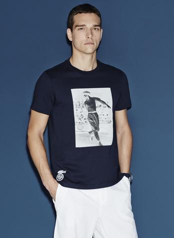 Lacoste Roland Garros tennis collection men's T-shirt