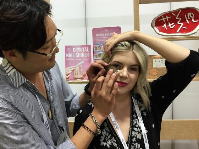 Cosmoprof 2017 Whamisa eye gel mask