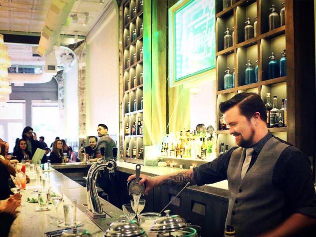 Bartender Zach Potts of Remedy restaurant in Dallas