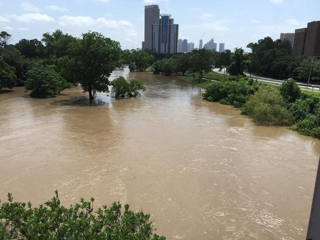 News, Shelby, Buffalo Bayou Park flood, May 2015