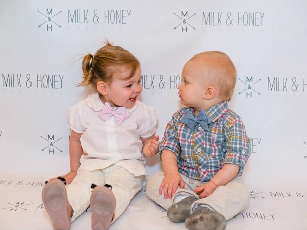 Cole London Harper, Walker Boyton, Baby Bow Tie event at Milk & Honey