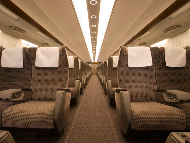 Texas Central Rail high-speed train rail March 2014 seating