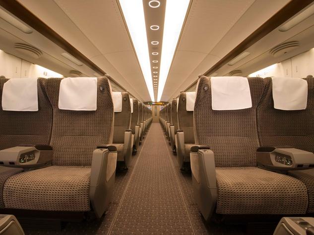 Texas Central Rail high-speed train rail March 2014 seating
