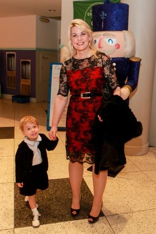 Children's Museum holiday party, Stephanie Von Stein and child
