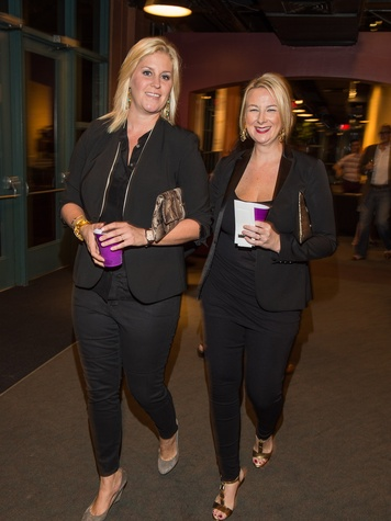 Lauren Taft, left, and Libby Cagle at George Lancaster's birthday bash October 2013
