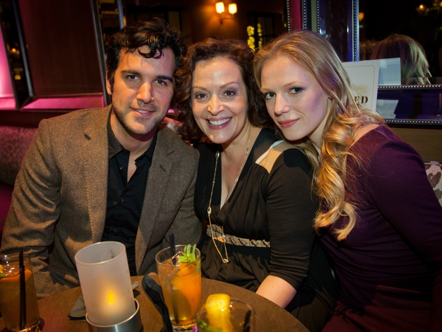 Juan Pablo Di Pace, Marlene Forte and Emma Bell, j r ewing bourbon launch party