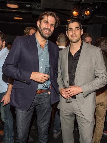 Kevin Korney, left, and Martin Barajas at George Lancaster's birthday bash October 2013
