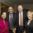 0144 Monjula and Ravi Chidambaram, from left, and Harry and Marian Tindall at the Tiger Ball kickoff party September 2014