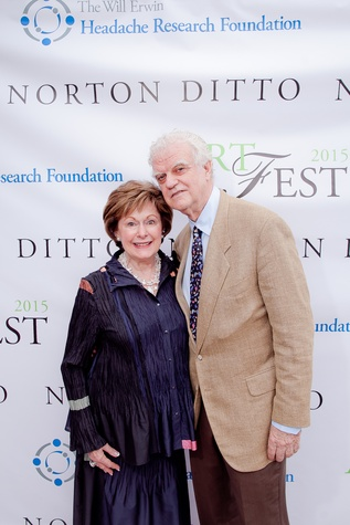 Susan and Lenoir Josey at the Norton Ditto ArtFest April 2015