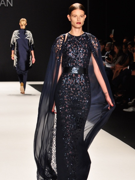 Clifford, Fashion Week spring 2013, Naeem Khan, September 2012, black gown
