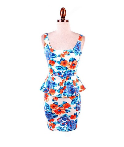 krimson & klover floral peplum dress