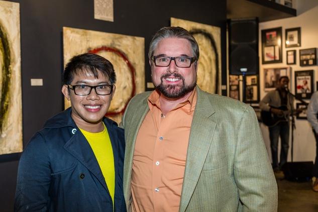 Tristan Marcellonas and Rick Taylor at Justin Garcia presents 7 Unlayered October 2014