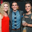 18 Aimee Finnorer, from left, Tim Southerland and Ashley McCown at the CultureMap Summer Social July 2014