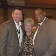 9 Parker Johnson, from left, Dot Mitchell and Curtis W. Clerkley Jr. at the Houston Livestock Show and Rodeo Trailblazer honoree reception October 2014