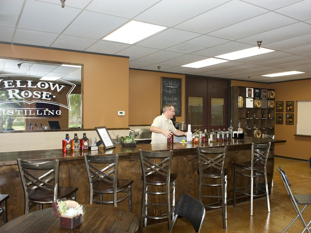 9 Yellow Rose Distilling September 2014 bartender at bar