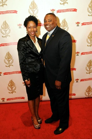 Michelle and LeRoy Burrell at the Legacy Gala December 2014