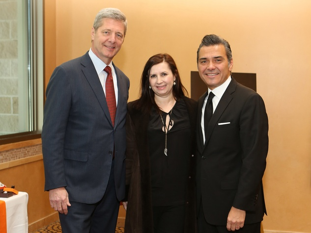 14 Bobby Dees, from left, Sylvia Forsythe and Albert Rubio at the Houston Grand Opera Ball luncheon February 2014
