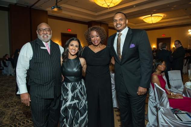 13 Manson Johnson, from left, Rania Mankarious, Deborah Duncan and Chester Pitts at the Crime Stoppers Gala November 2014
