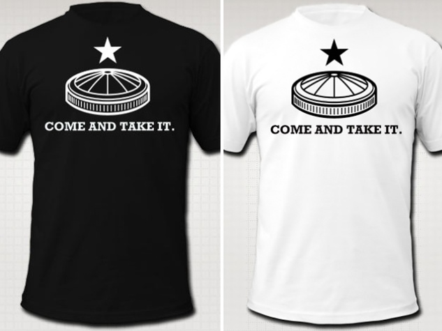 Come and Take It T-shirts Astrodome James Glassman Houstorian January 2014