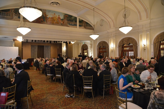 The venue at Rice Hotel's Crystal Ballroom at the Houston Chamber Choir Gala April 2014