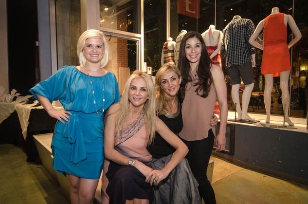 Austin Fashion Week kick off party at estilo 2013 , Marina Silver, Paola Moore, Allison Taylor-Moseley and Stephanie O'Neill