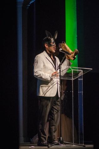 AFW Award show  Daniel Esquivel accepts his award