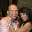 2 Alex Martinez and Diane Caplan at the Holly Rose Ribbon Shades of Roses kick off party July 2014