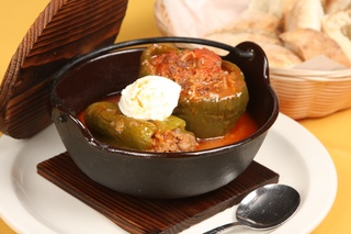 Stuffed Peppers at Cafe Pita+
