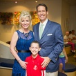9527 Laurie and Chris DeClaire with their son, Patrick at the Lester and Sue Smith Clinic dedication at Texas Children's Hospital May 2014