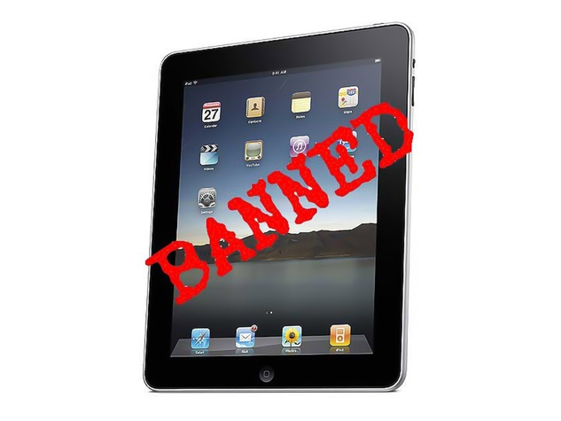 iPad, banned, not allowed
