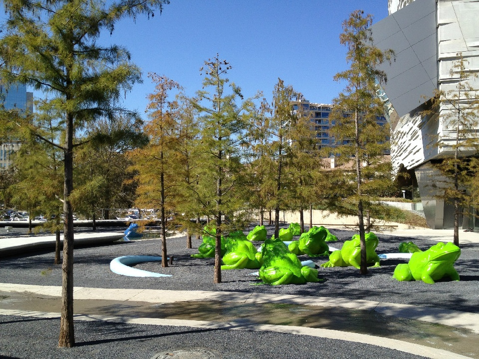 Perot Museum of Nature and Science, leapfrog forest