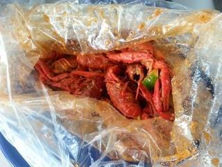 88 Boiling Crawfish & Seafood Restaurant crawfish closeup in season bag