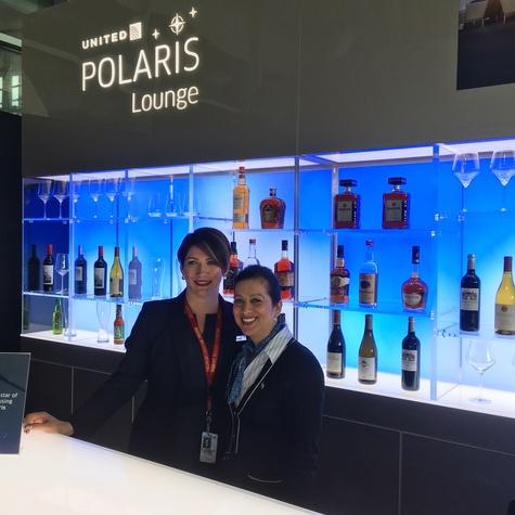 United Polaris lounge mockup at Bush Intercontinental Airport