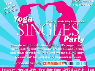 Austin photo: Events_Singles Yoga_Poster