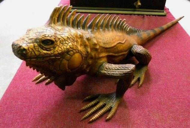 Michael Brown auction iguana