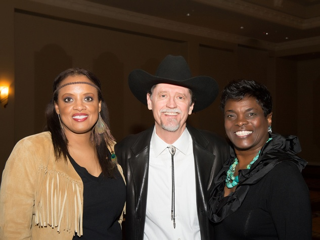 41 Carolyn Codwell, from left, Jon Hall and Janice Hall at Links Boots & Bling February 2014