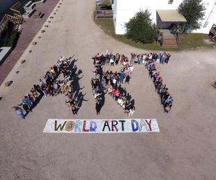 World Art Day 2017 drone photo