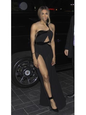 Ciara arriving at the Moet Rose Lounge October 2013