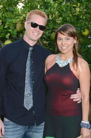 Jason Brown and Kia Neill at the Aurora Picture Show Awards dinner October 2014