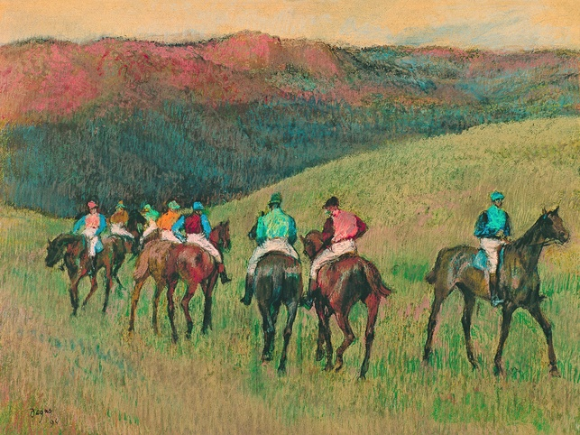 Degas: A New Vision, Racehorses in a Landscape