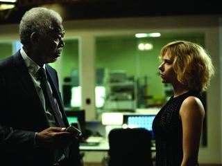 Morgan Freeman and Scarlett Johansson in Lucy