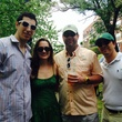 8 Josh Barvin, from left, Cara Merriman, West Gotcher and Ryan Walsh at the Buffalo Bayou Bash April 2014
