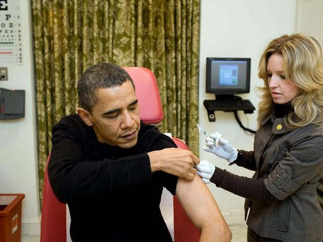 President Barack Obama receives H1N1 vaccination on Dec. 20, 2009